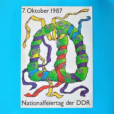 DDR Plakat Poster 723 | Nationalfeiertag 7. Oktober 1987 | 81x 57 cm Original
