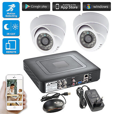 4CH DVR CCTV Home Security Camera System AHD Camera 24 Led Day/night IR Cut for sale  Shipping to Nigeria