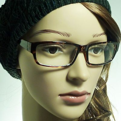NERD Rectangle Vintage Men Women Frame Trendy Clear Lens Eye Glasses TORTOISE (Trendy Nerd)
