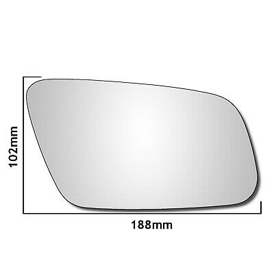 Right driver side Blue Wing mirror glass for Citroen C5 2001-2007