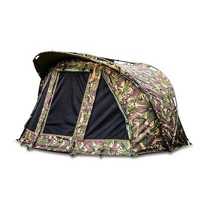 Saber Camo Carp Fishing Bivvy Day Tent Shelter Brolly System + Ground Sheet UK