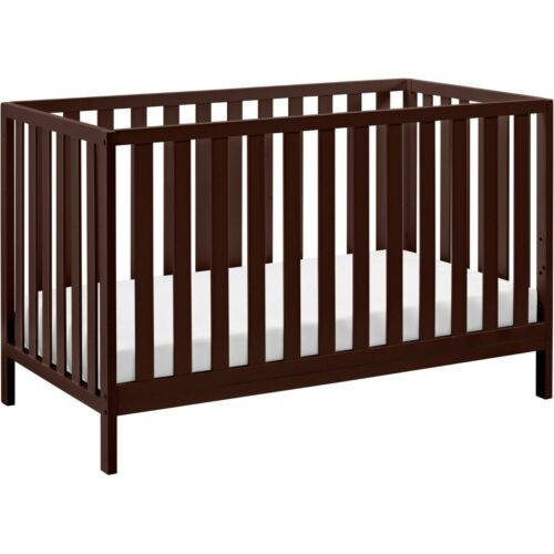 Child Baby Nursery Crib Convertible Toddler Full Size Bed Daybed Espresso 4 in 1