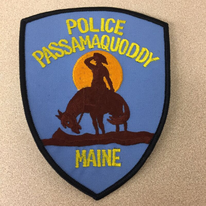 Vintage Passamaquoddy ME Maine Police Patch Never Used AR117