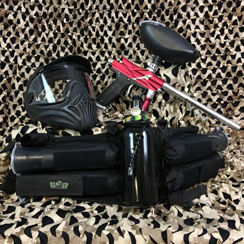 NEW Azodin Blitz 3 LEGENDARY Paintball Marker Gun Package Kit - Red/Silver