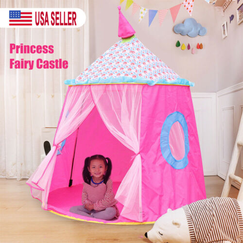 Kids Pink Princess Castle Play House Large Indoor Outdoor Gi