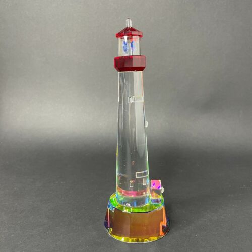 """Vistalight by Crystal World Cape May NJ Lighthouse Figurine 7"""" in Box BEAUTIFUL"""