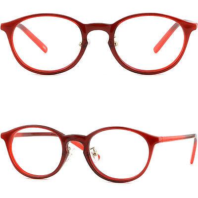 Round Womens Plastic Frame Adjustable Nose Pads Red Acetate Prescription Glasses Adjust Plastic Frame Glasses