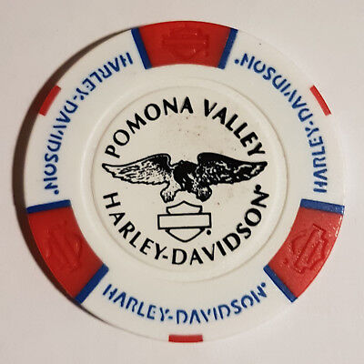 "1 Orig. Harley-Davidson Pokerchip ""Pomona Valley H-D, Montclair, CA USA"""