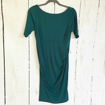 A Pea In The Pod Teal V-Back Maternity Dress. Size S.
