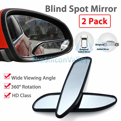 2pcs Auto 360� Wide Angle Convex Rear Side View Car Truck SUV Blind Spot Mirror