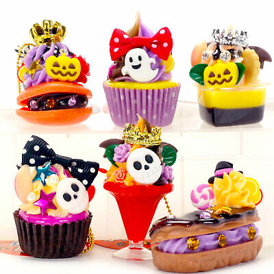 Cute Cell Phone Food Charm Halloween Goth Cake Macaron Ghost Pumpkin Skull 1PC