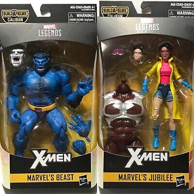 Marvel Legends X-Men Beast and Jubilee NIB Caliban BAF Pieces Included