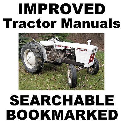 Case David Brown 770 780 880 990 Tractor Shop Repair Service Improved Manual Cd
