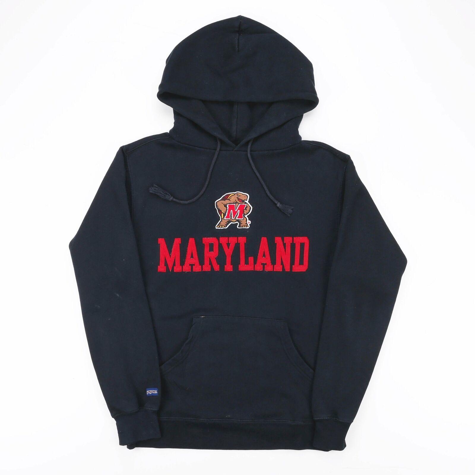 JANSPORT Maryland Black 00s Round Neck Hoodie Mens S