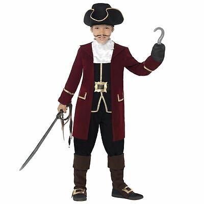 De Lujo para Niños Pirata Capitán Garfio Del Caribe Disfraz Libro Semana...