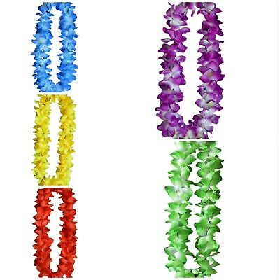 LED Light Up Hawaiian Lei Leis for Kids Adults Men Garland Necklace Jewelry - Led Lei