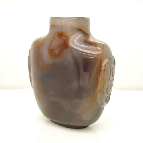 Old or Antique Estate Chinese Hardstone or Agate Snuff Bottle - Biyanhu VR