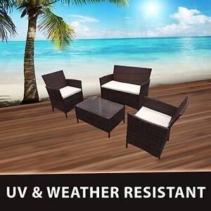 Premium 4PC Wicker Rattan Outdoor Cofe Lounge Furniture Setting Dandenong Greater Dandenong Preview