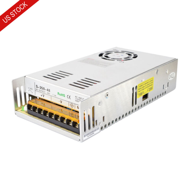 US Ship DC48V 350W 7.3A Switching Power Supply 115V/230V for Stepper CNC Router
