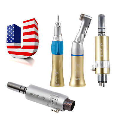 Dental Low Speed Handpiece Contra Angle Straight Air Motor For Nsk 2h4h Gold Ar