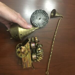 Lot objets brass