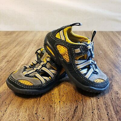 Timberland Sandals Toddler Boy Size 5 Yellow Gray Black Hiking Beach Swimming ()
