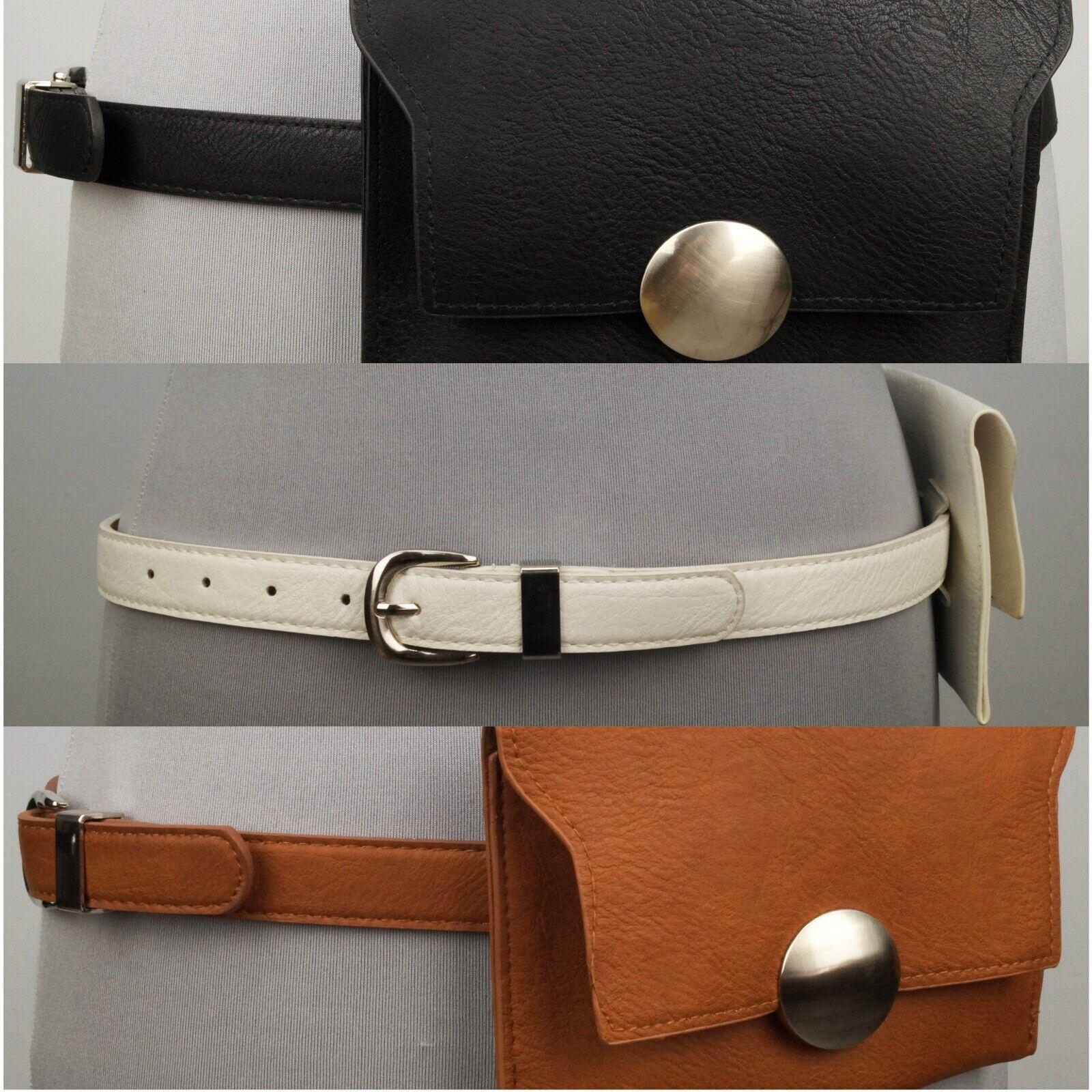 Damen Gürtel mit Tasche Gürteltasche Bauchtasche Hüfttasche 85 bis 100 cm  3165