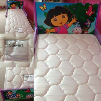 Kids Single Bed + Mattress