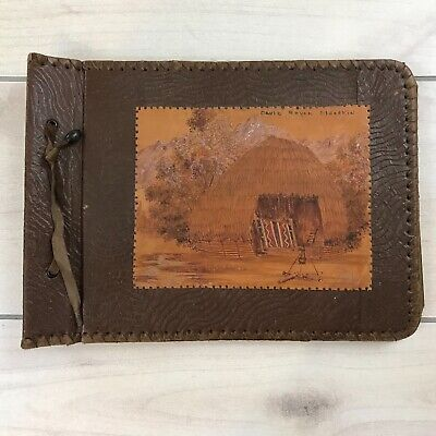 - Vintage Leather Memorie / Photo Album Southwest American Art Hand Made
