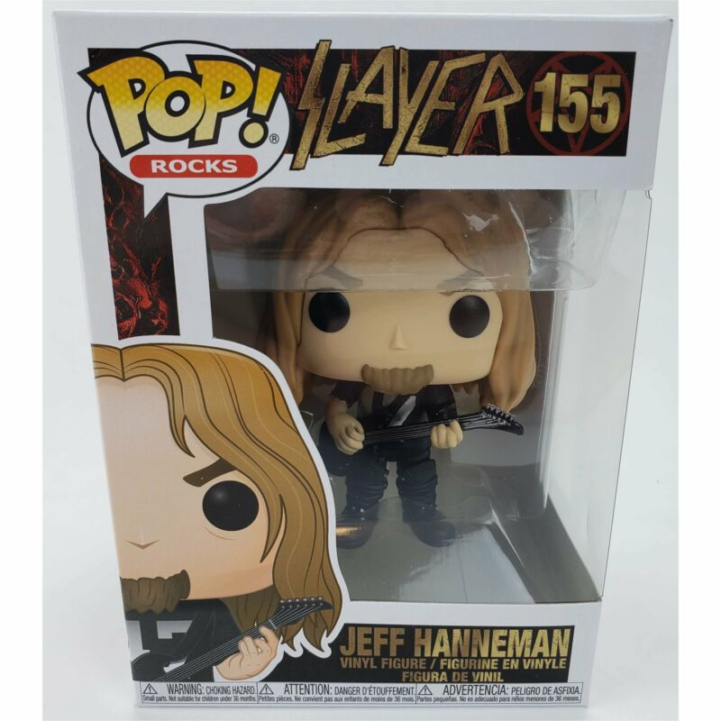 Funko Pop Rocks: Slayer - Jeff Hanneman 155 Vinyl Figure w/ Protector