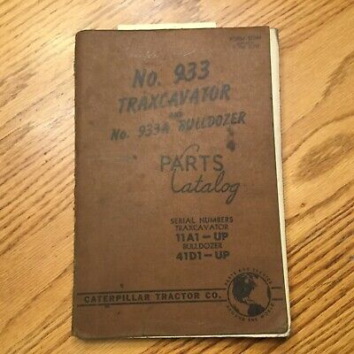 Cat Caterpillar 933 Parts Manual Book Catalog List Traxcavator Sn 11a 41d Dozer