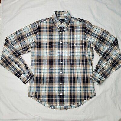 Gant by Michael Bastian Mens Plaid Button Down Shirt Sz M Made in Portugal