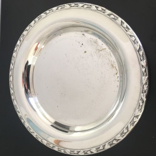 """Vintage 9"""" Silverplate WM A Rogers Plate Dish Tray Meadowbrook"""