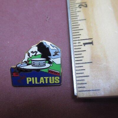 Pilatus Mountain Switzerland Hat Pin Tie Tac Lapel Pinback Ski Skiing