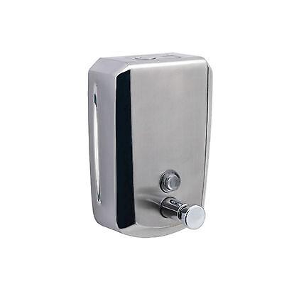 Dispenser sapone a muro in acciaio inox satinato GEDY Epos da 800 ml per locali