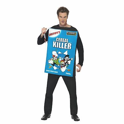 Adult Mens Cereal Serial Killer Funny Halloween Fancy Dress Costume Outfit Corn](Serial Killer Halloween Outfit)