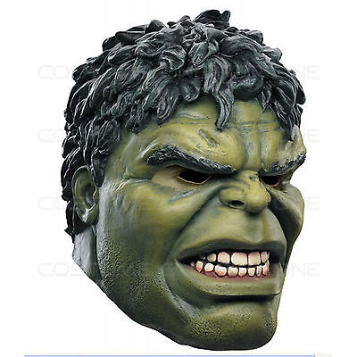 Latex Avengers Hulk Head Over-The-Head Rubber Mask Adult Cosplay Costum Fasnacht