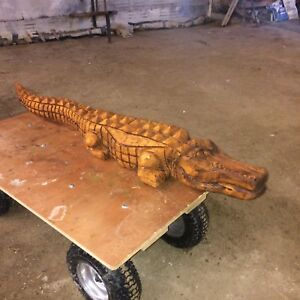 Custom Carved Alligator