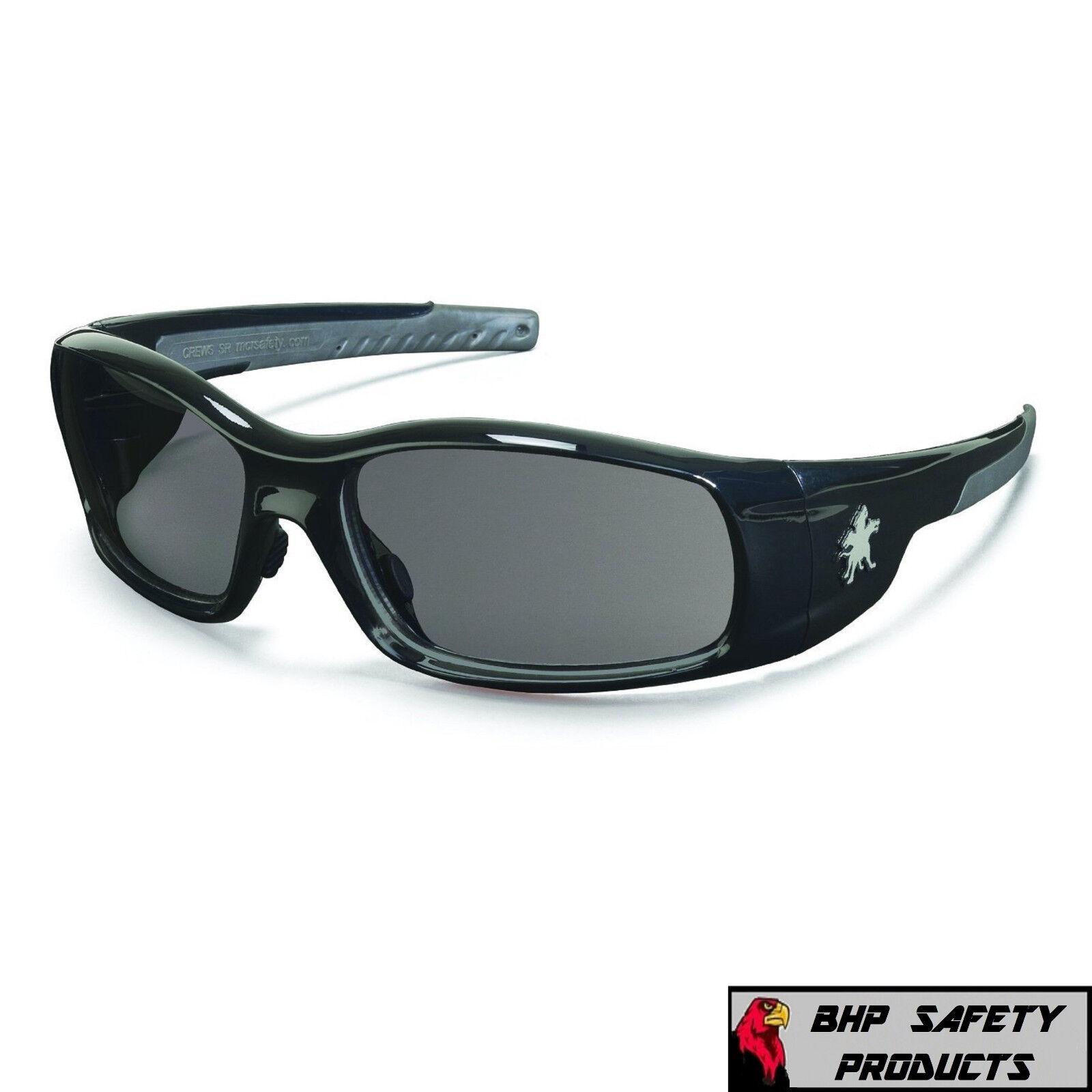 MCR CREWS SWAGGER SAFETY GLASSES SUNGLASSES WORK SPORT EYEWEAR CHOOSE YOUR COLOR SR112 GRAY LENS/BLACK FRAME
