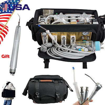 Us Portable Dental Turbine Unit Air Compressor Suction 3-waysyringe Scaler Fda