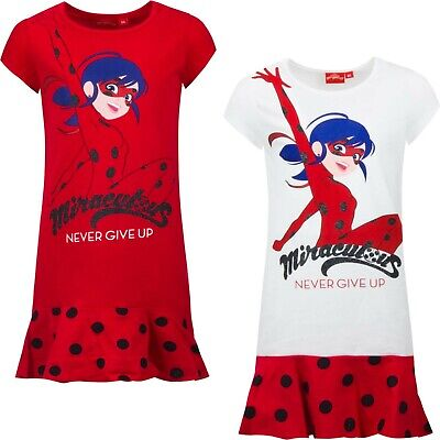 Miraculous Ladybug Kleid Shirt Sommerkleid Mädchen Long-Shirt Gr. 104 - 128