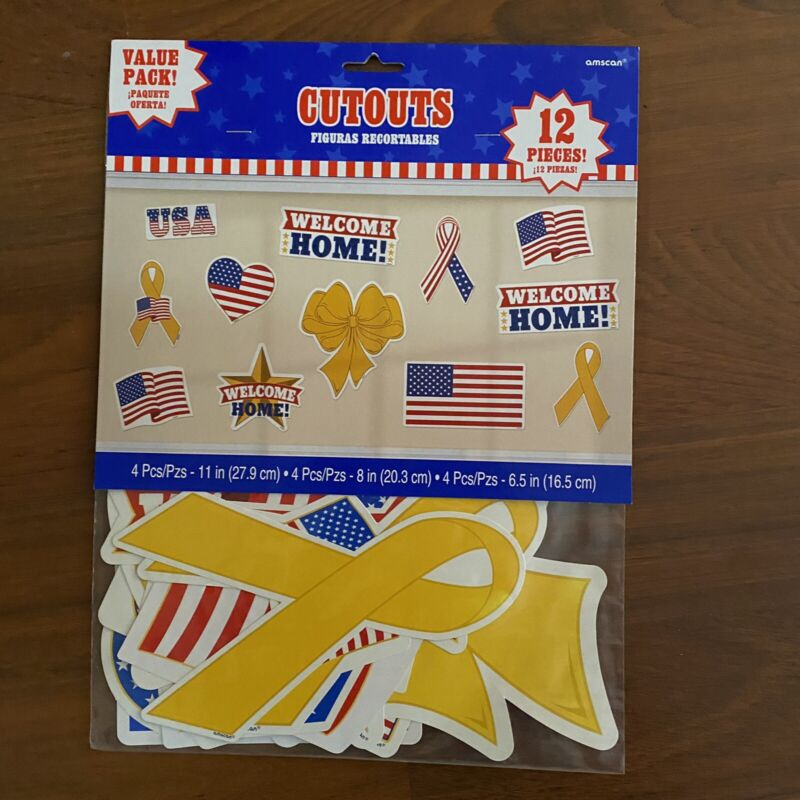 Welcome Home American Pride Cutout Patriotic Decorations July 4 Party Supplies