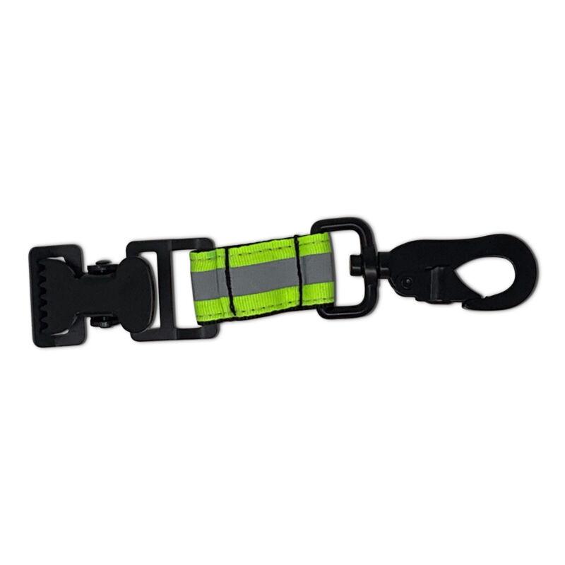RFG Reflective Firefighter Rescue Extrication Work Glove Strap w/Alligator Clip