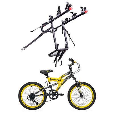 Kent Bikes Avigo Air Flex Steel 20 Inch Boys BMX Bike & 3 Bike Car Trunk Rack
