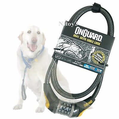 OnGuard Akita Cable Bike Lock 4-Digit Combination- 12mm Steel Cable