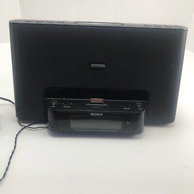 Sony iPhone/iPod Clock Radio Speaker Dock ICF-CS15iP Dream Machine EUC Works