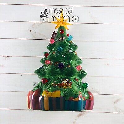 "New 2020 Disney Parks Retro Ceramic Light Up Christmas Holiday Tree 13"""