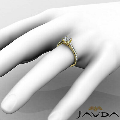 Cushion Shape French V Pave Diamond Engagement Ring GIA Certified F VVS2 1.01Ct 11