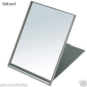 Sibel Silver Folding Fold Up Shaving Mirror - 13 x 17 cm Salon Use