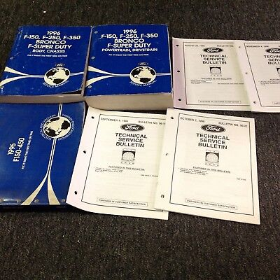 1996 OEM Ford F-150 250 350 Bronco Truck Service Shop Repair Manual Set FACTORY
